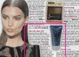 magazine article featuring lycon spa from Brazilia